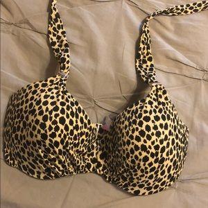 Leopard Print Bikini Top